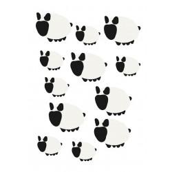 Stickers Autocollants enfant déco Planche A3 Moutons réf 237
