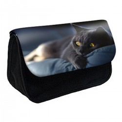 Trousse à Crayons Chat chaton noir ref 495