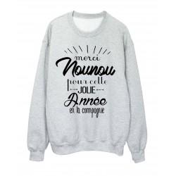 Sweat-Shirt CITATION MERCI NOUNOU