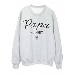 Sweat-Shirt fete des pères PAPA AU RHUM