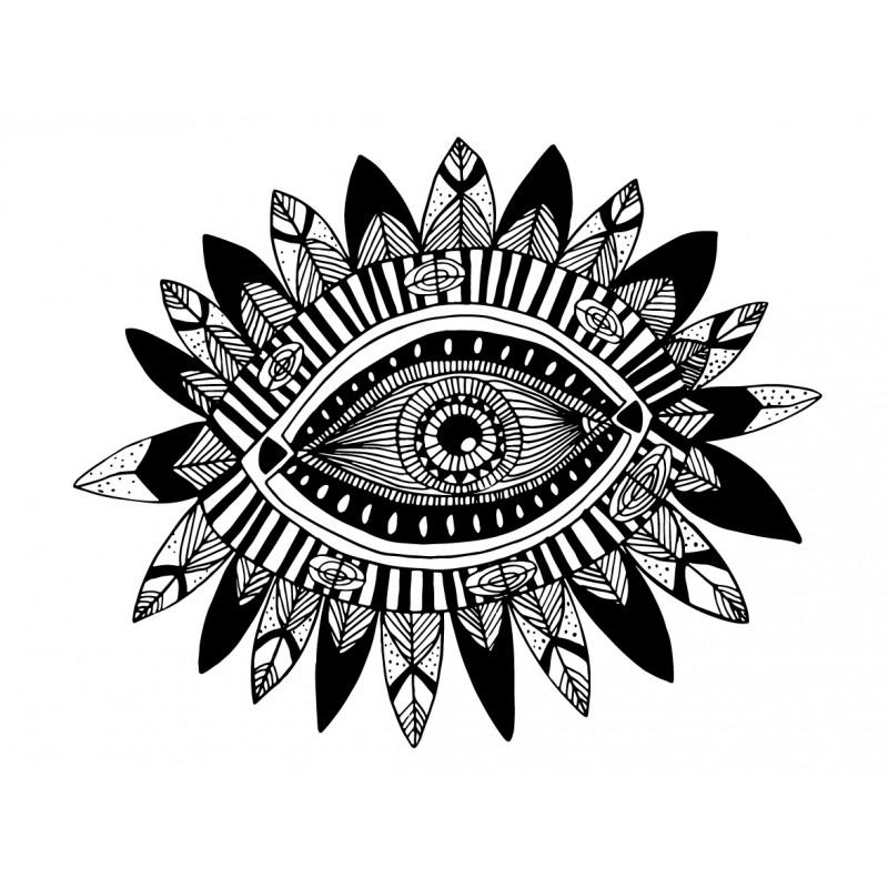 Stickers autocollants enfant d co oeil psychedelique - Decoration chambre psychedelique ...