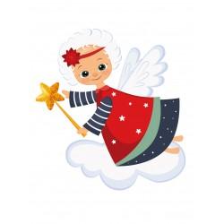 Stickers Autocollants enfant déco Ange noel
