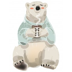 Stickers Autocollants enfant deco Ours noel
