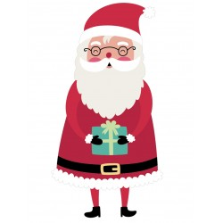Stickers Autocollants enfant deco Pere noel