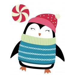 Stickers Autocollants enfant deco Pingouin NOEL