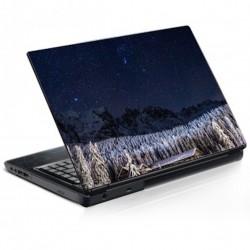 Stickers Autocollants ordinateur portable PC Neige et montagne nuit étoiles réf 324