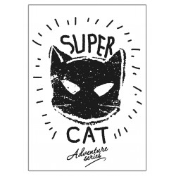 Affiches Posters déco murale design super cat chat ref 02