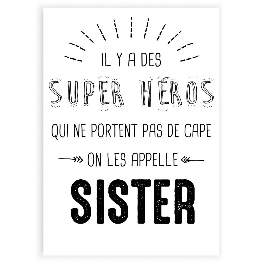 Affiches Posters Deco Murale Citation Il Y A Des Super Heros On