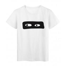 T-Shirt blanc Yeux masque noir réf Tee shirt 2139