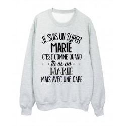 Sweat-Shirt humour citation super Marié c'est comme quand tu es un Marié mais avec une cape réf 2052