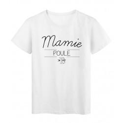 T-Shirt imprimé humour design Mamie Poule réf 2189