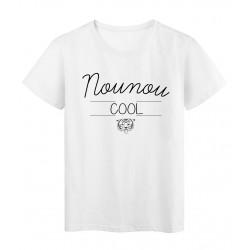 T-Shirt imprimé humour design Nounou Cool réf 2190