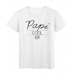 T-Shirt imprimé humour design Papi Cool réf 2195