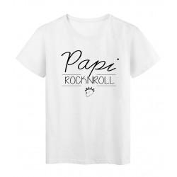 T-Shirt imprimé humour design Papi Cool réf 2196