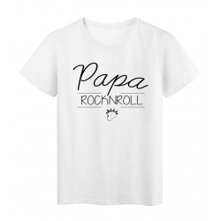 T-Shirt imprimé humour design Papa Rock n roll réf 2197