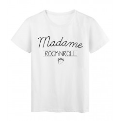 T-Shirt imprimé humour design Madame Rock n roll réf 2198