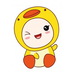 Stickers Autocollants enfant déco bébé manga poussin