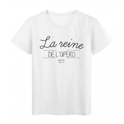 T-Shirt imprimé Citation la reine de l'apero