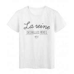 T-Shirt imprimé Citation la reine des belles meres