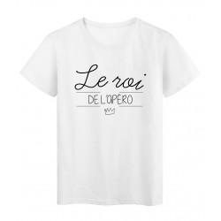 T-Shirt imprimé Citation Le roi de l'apéro réf 2264