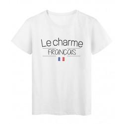 T-Shirt imprimé humour Citation Le charme Français réf 2274