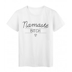 T-Shirt imprimé humour Citation MAMASTE BITCH réf 2293