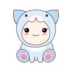 Stickers Autocollants enfant déco bébé manga lapin réf 432