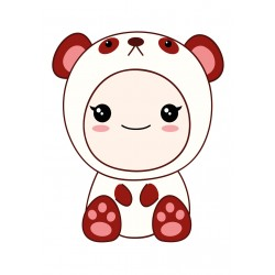 Stickers Autocollants enfant déco bébé manga ourson réf 434