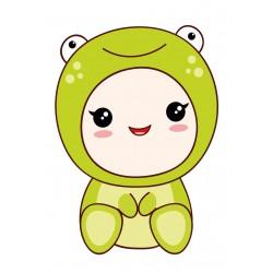 Stickers Autocollants enfant déco bébé manga grenouille ref 436