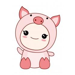 Stickers Autocollants enfant déco bébé manga cochon ref 438
