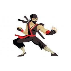 Stickers Autocollants enfant deco Shaolin ninja réf 444