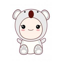 Stickers Autocollants enfant déco bébé manga koala réf 439