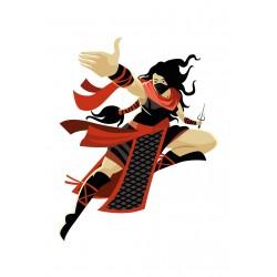 Stickers Autocollants enfant déco Shaolin ninja ref 445
