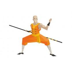 Stickers Autocollants enfant déco Shaolin ninja réf 447