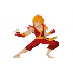 Stickers Autocollants enfant deco Shaolin ninja réf 448