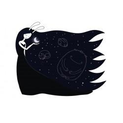 Stickers Autocollants enfant déco Princesse de lune rêves réf 450