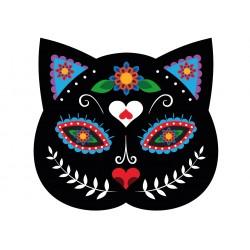 Stickers Autocollants enfant Chat design fleurs réf 461