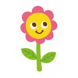 Stickers Autocollants enfant déco fleur sourire réf 463