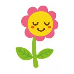 Stickers Autocollants enfant déco fleur sourire réf 465