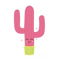 Stickers Autocollants enfant déco Cactus cœur design ref 472