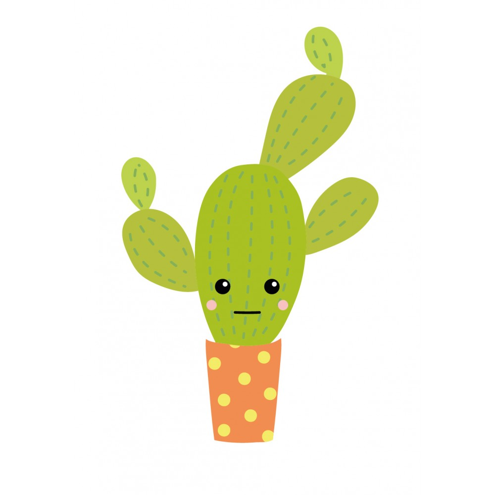 Stickers autocollants enfant d co cactus vert design for Enfant design