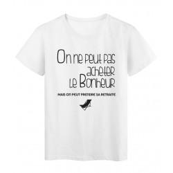 T-Shirt imprimé départ retraite bonheur