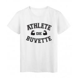 T-Shirt imprimé humour Athlete de buvette