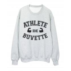 Sweat shirt imprimé humour Athlete de buvette ref 2336