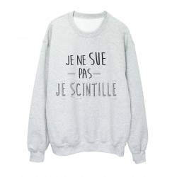 T-Shirt imprimé citation humour Je ne sue pas je scintille ref 2317
