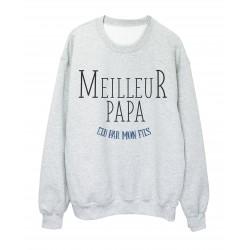 Sweat shirt imprimé Fete des peres meilleur papa elu par mon fils ref 2309