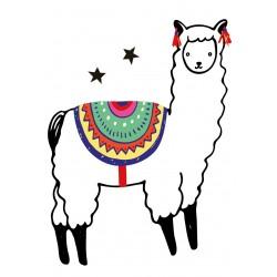 Stickers Autocollants enfant déco LAMA ref 574
