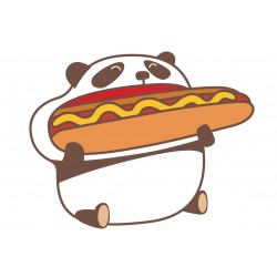 Stickers Autocollants enfant déco PANDA FOOD