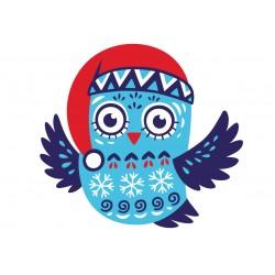 Stickers Autocollants enfant déco HIBOU INDIEN