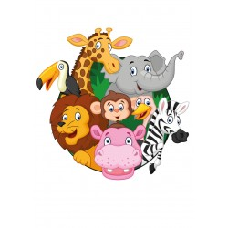 Stickers Autocollants enfant déco ANIMAUX JUNGLE